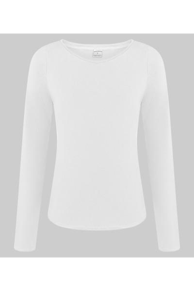 Organic long sleeve Ubu white