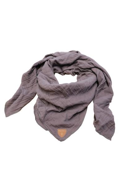 Musselin-Cloth/ Mull-Bandanna Skarna dunkelgrau