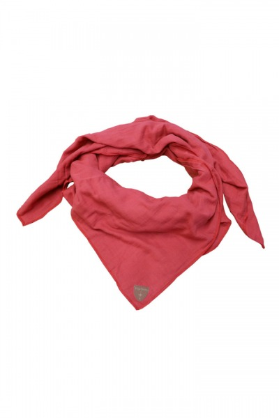 Musselin-Cloth/ Mull-Bandanna Skarna red
