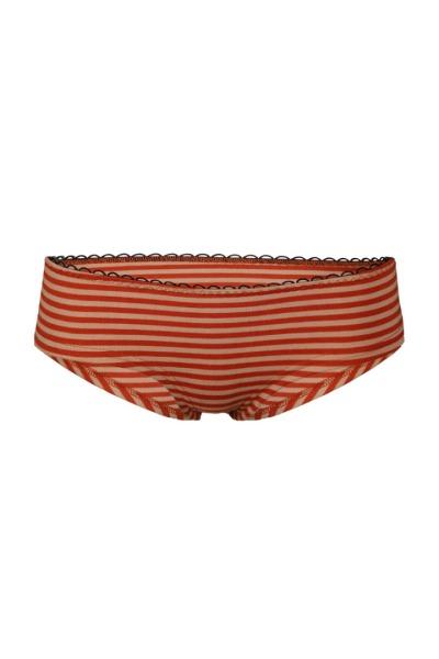 Bio hipster panties nude rust stripes