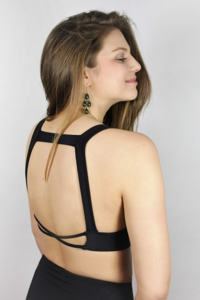 Recycling bikini top Bardo black