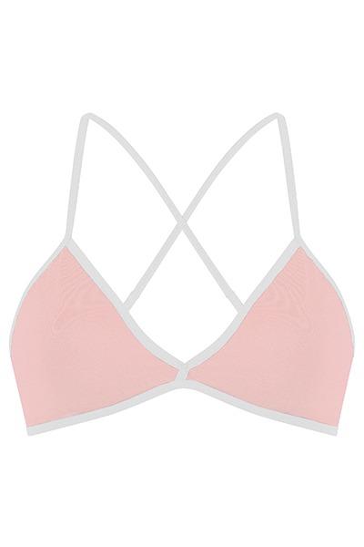 Organic bra light pink