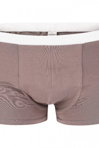 Organic men s trunk boxer shorts taupe