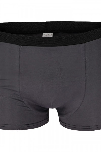 Organic men s trunk boxer shorts anthracite