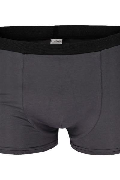 Organic men s trunk boxer shorts anthracite