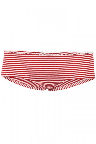 Bio hipster panties red-white stripes