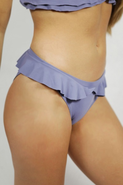 Recycling Bikinihose Volanti grau