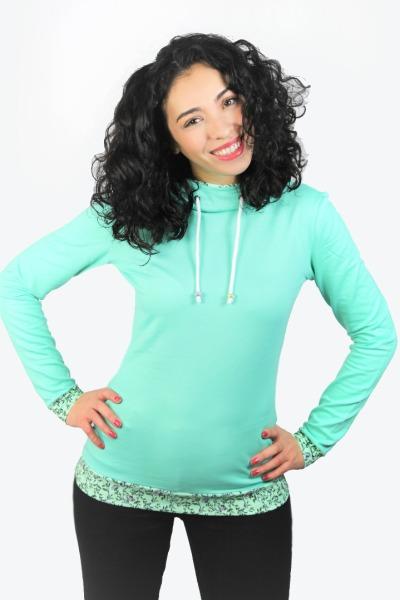 Bio Hoodie Marize mint Nelken mint