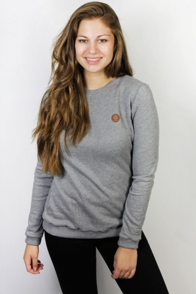 Organic jumper Uno tinged in grey