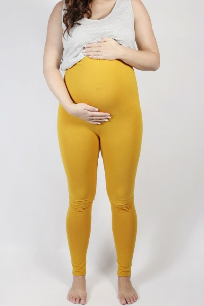 Bio Leggings Mama safran