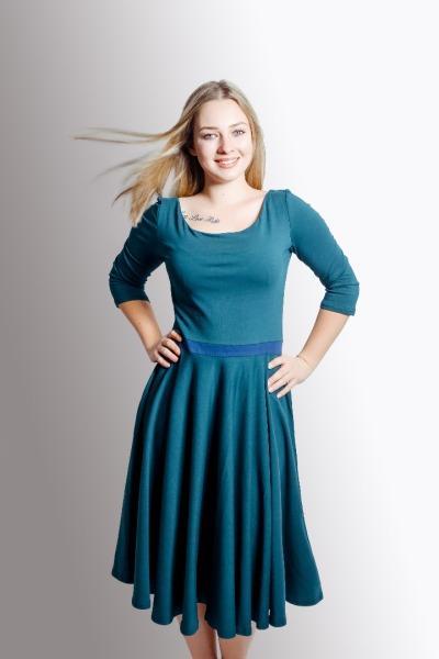 Bio Kleid Vrida smaragd