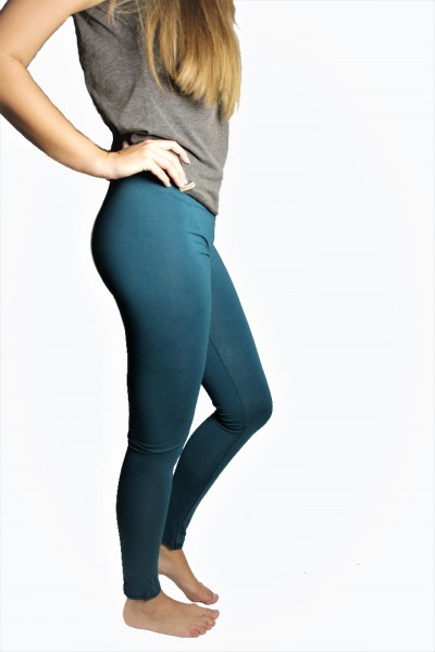 Organic Leggings smaragd