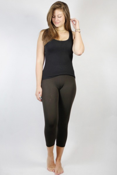 Bio Capri Leggings braun