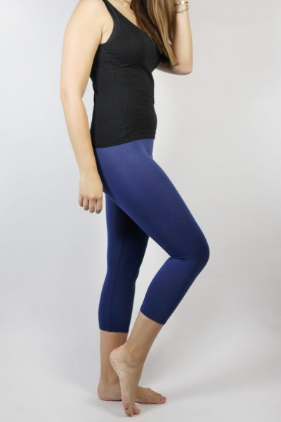 Bio Capri Leggings blau