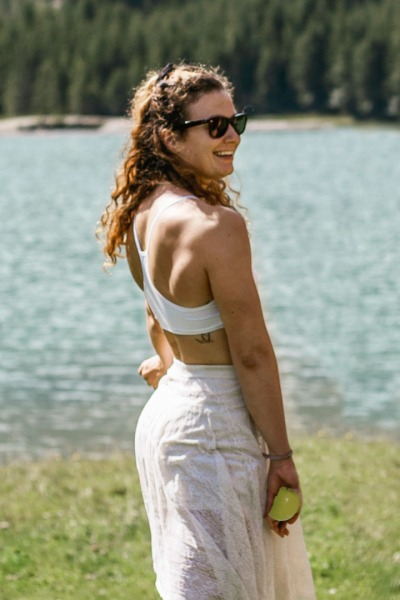 Organic bra Sporta white