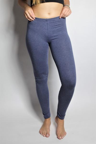 Organic Leggings tinged in blue