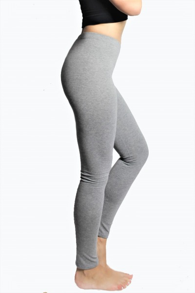 Bio Leggings grau meliert