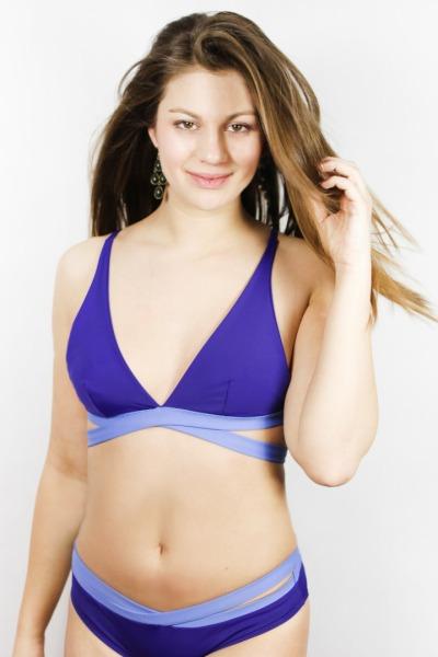 Recycling Bikinitop Johto indico / sailorblue