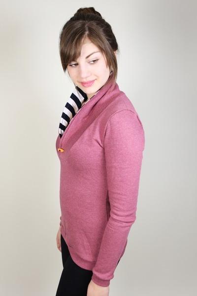 Bio Sweater Kraja rot melange Streifen