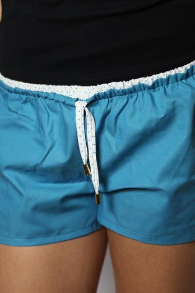 Bio Shorts Smölla blau/ Punkte