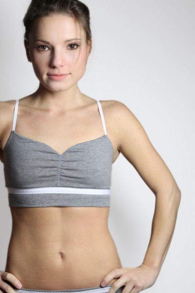 Organic Bustier tinged in grey