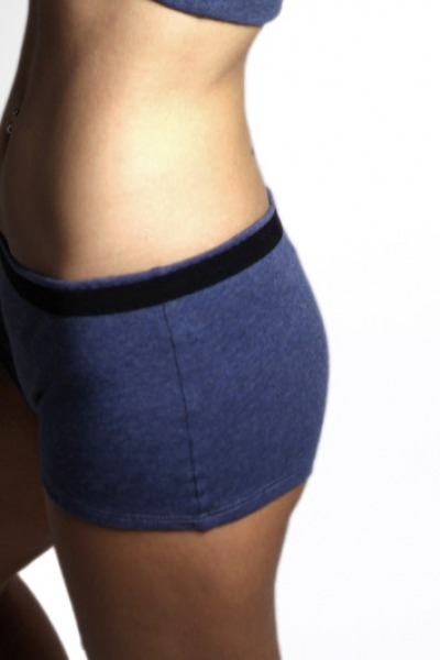 Organic panties long tinged in blue