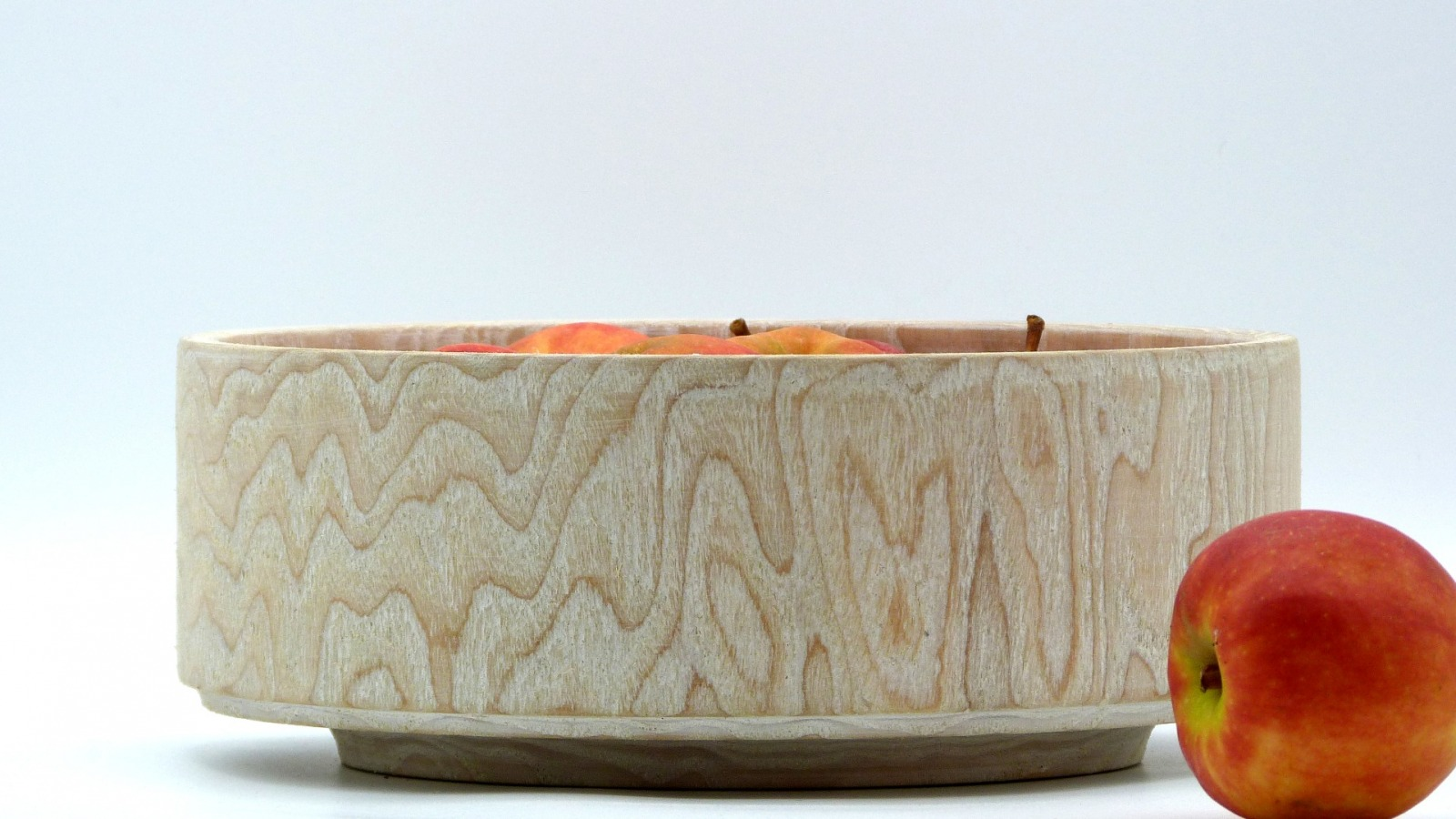Holzschale weiß aus Lindenholz