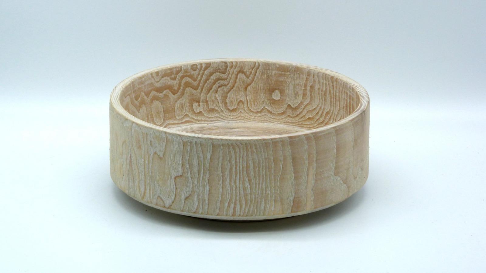 Holzschale weiß aus Lindenholz 7