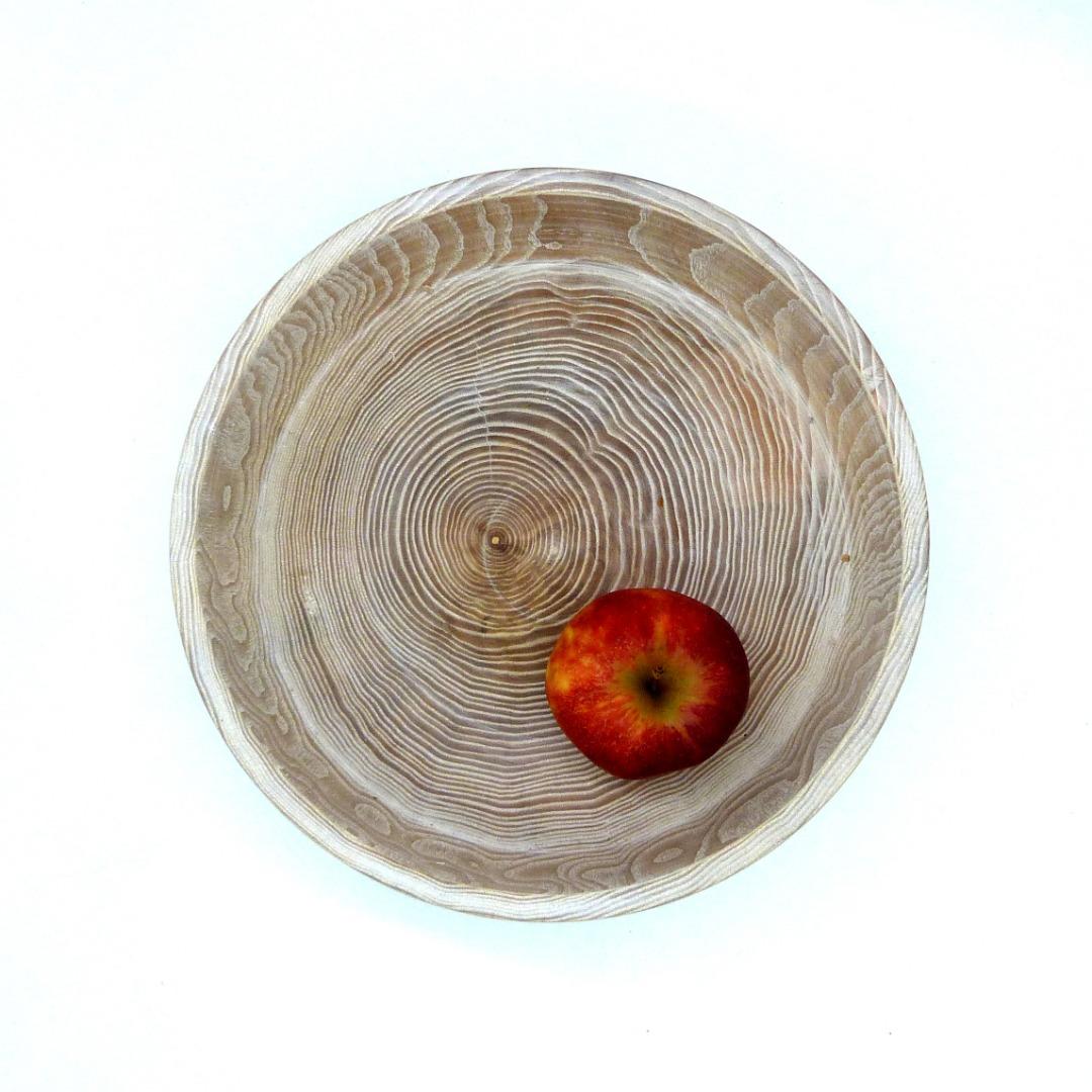 Holzschale weiß aus Lindenholz 8
