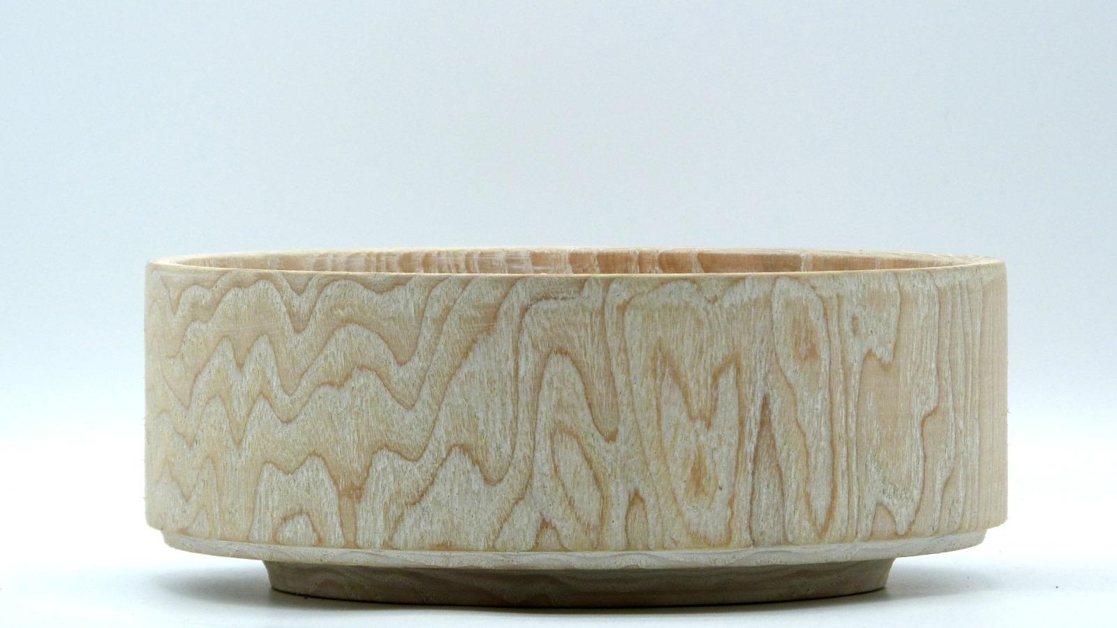 Holzschale weiß aus Lindenholz 2