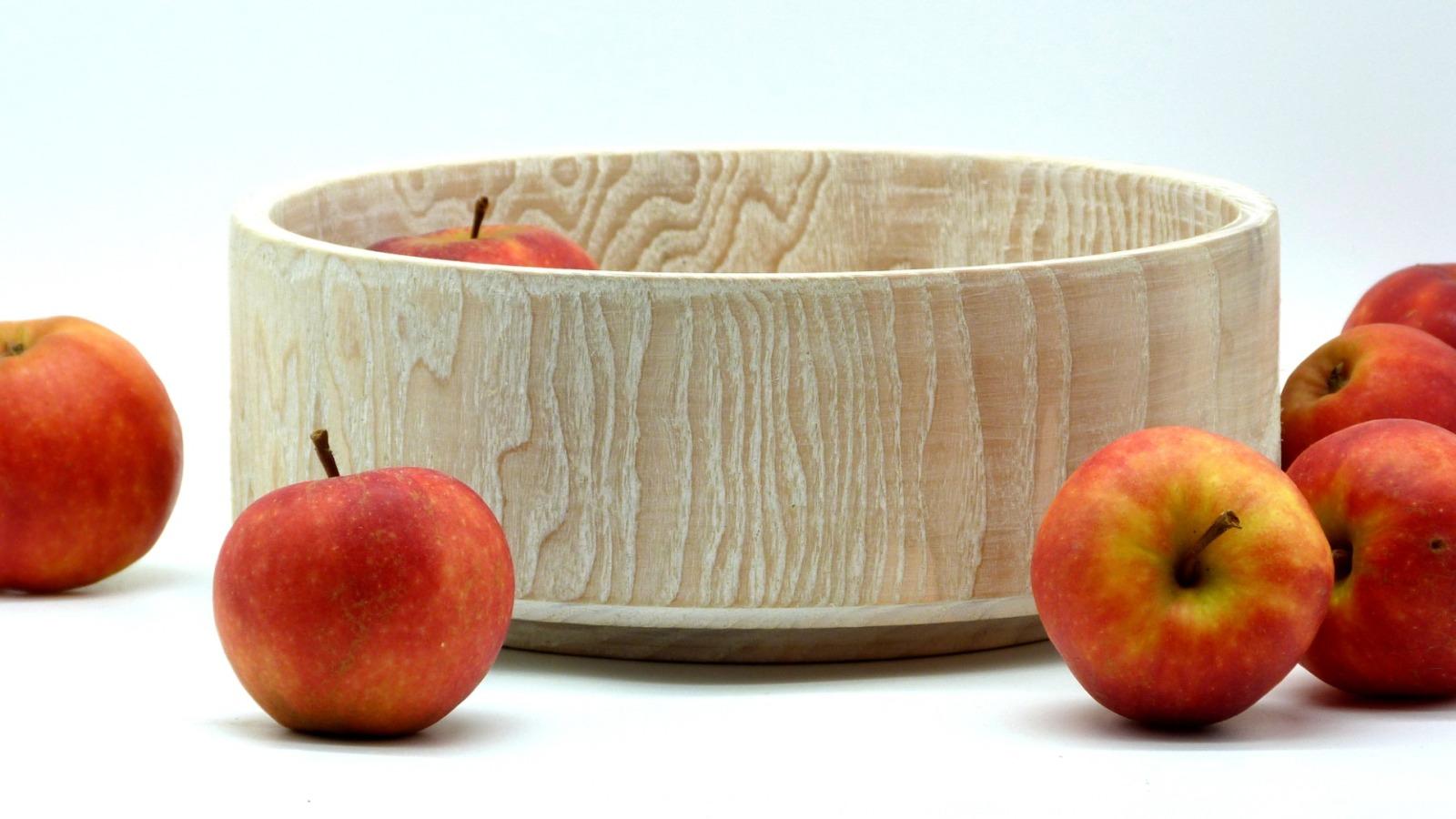 Holzschale weiß aus Lindenholz 4