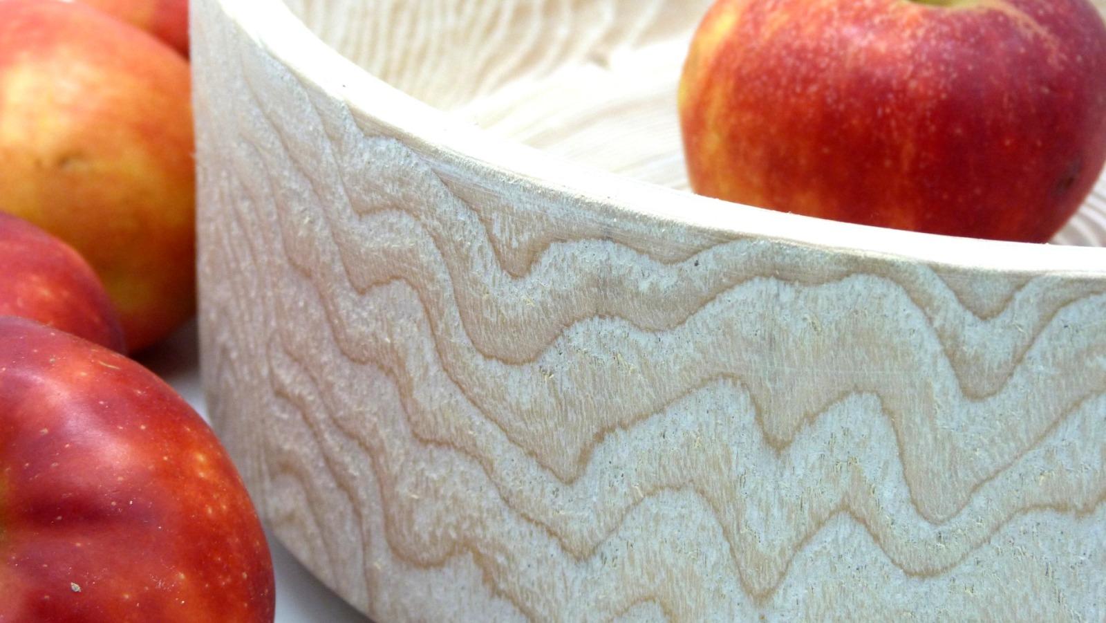 Holzschale weiß aus Lindenholz 10