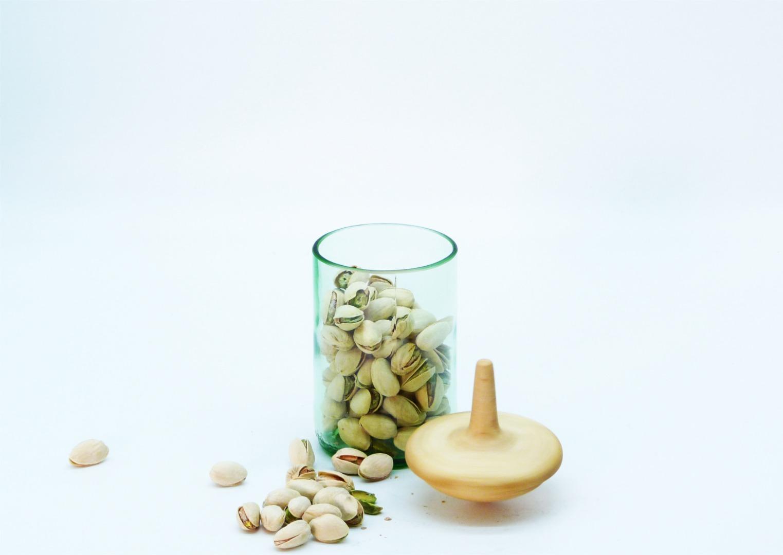 Recycling Kreiselglas grün mit Deckel 6