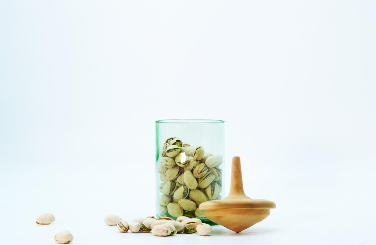 Recycling Kreiselglas grün mit Deckel 4