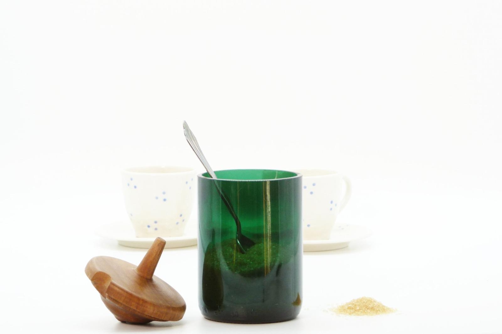 Zuckerdose aus Recyclingglas 5