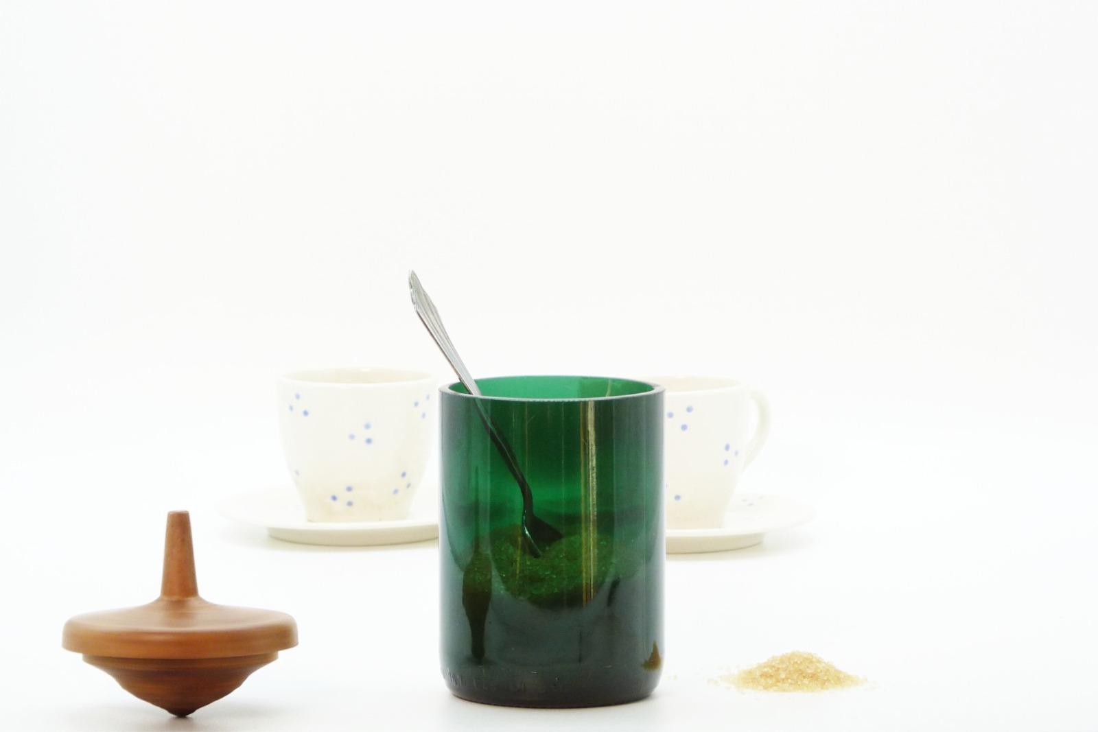 Zuckerdose aus Recyclingglas 6