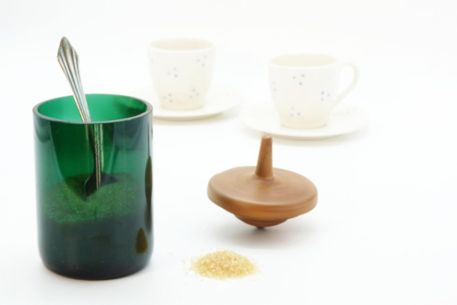 Zuckerdose aus Recyclingglas 7
