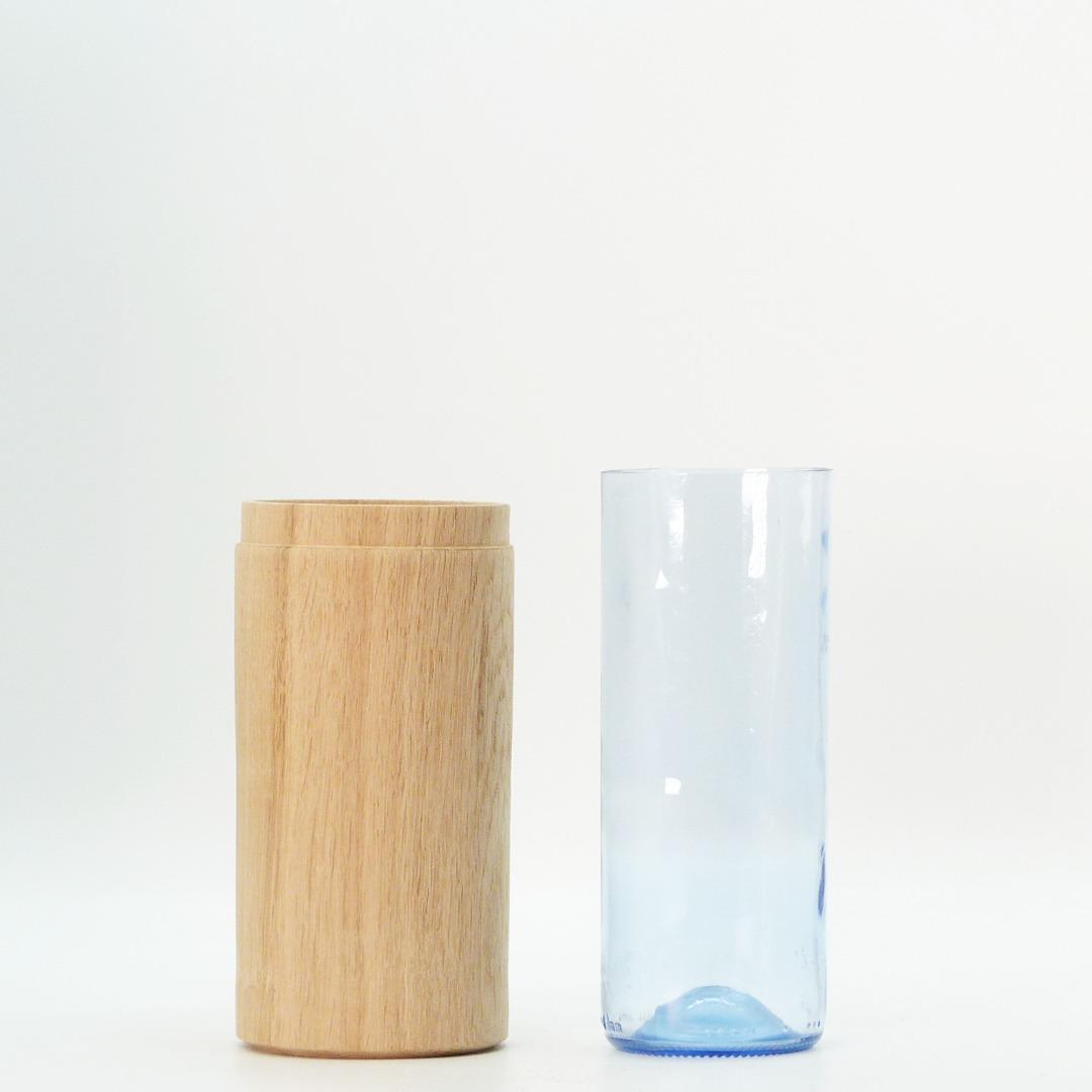 Vase aus Eichenholz 6