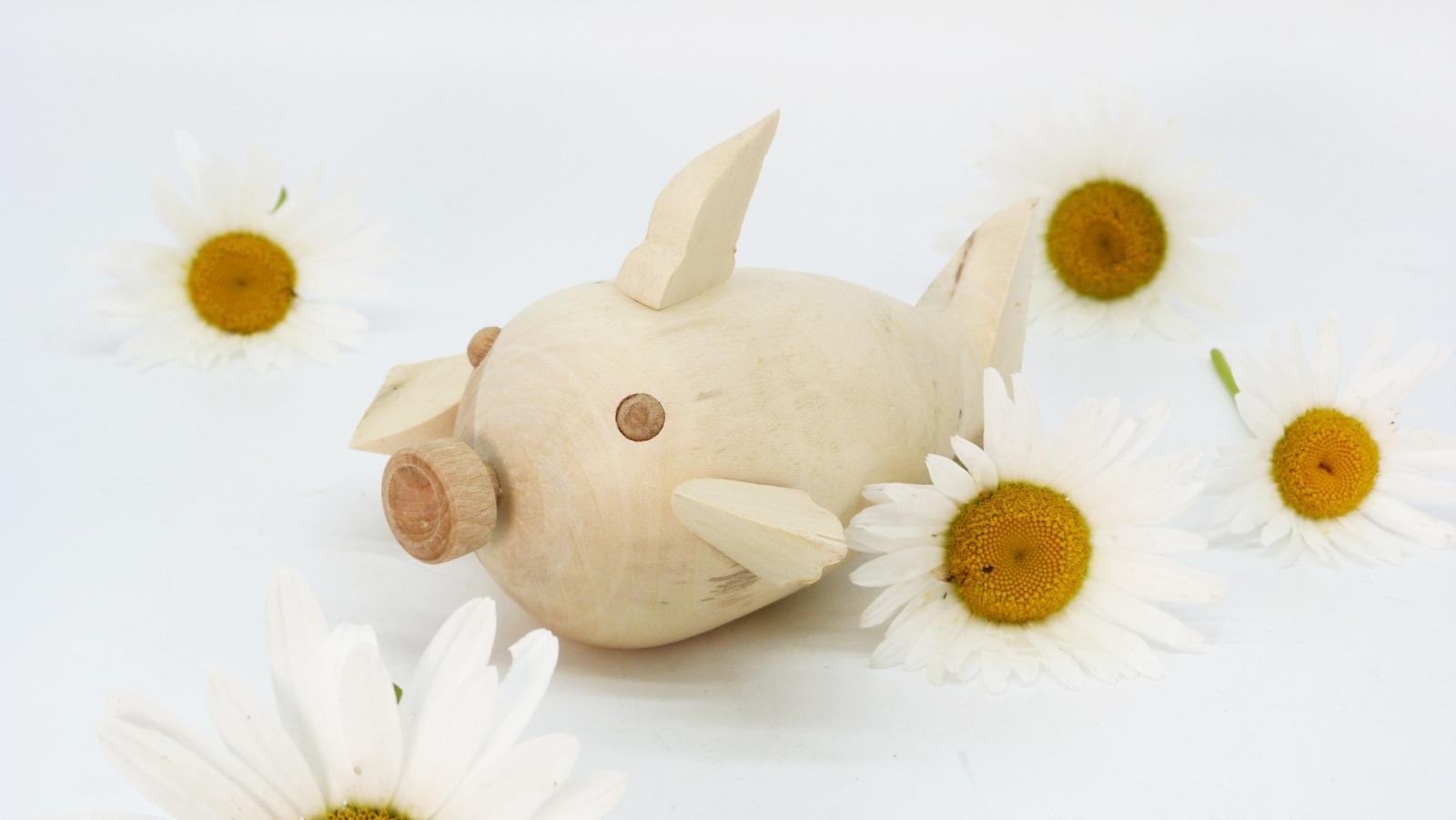 Holz Fisch Pigfish 11