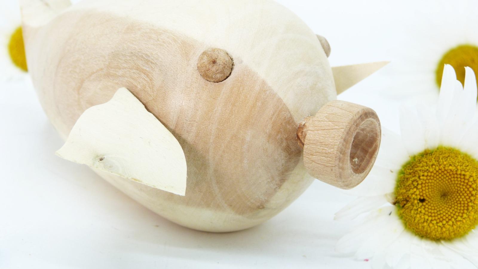 Holz Fisch Pigfish 14