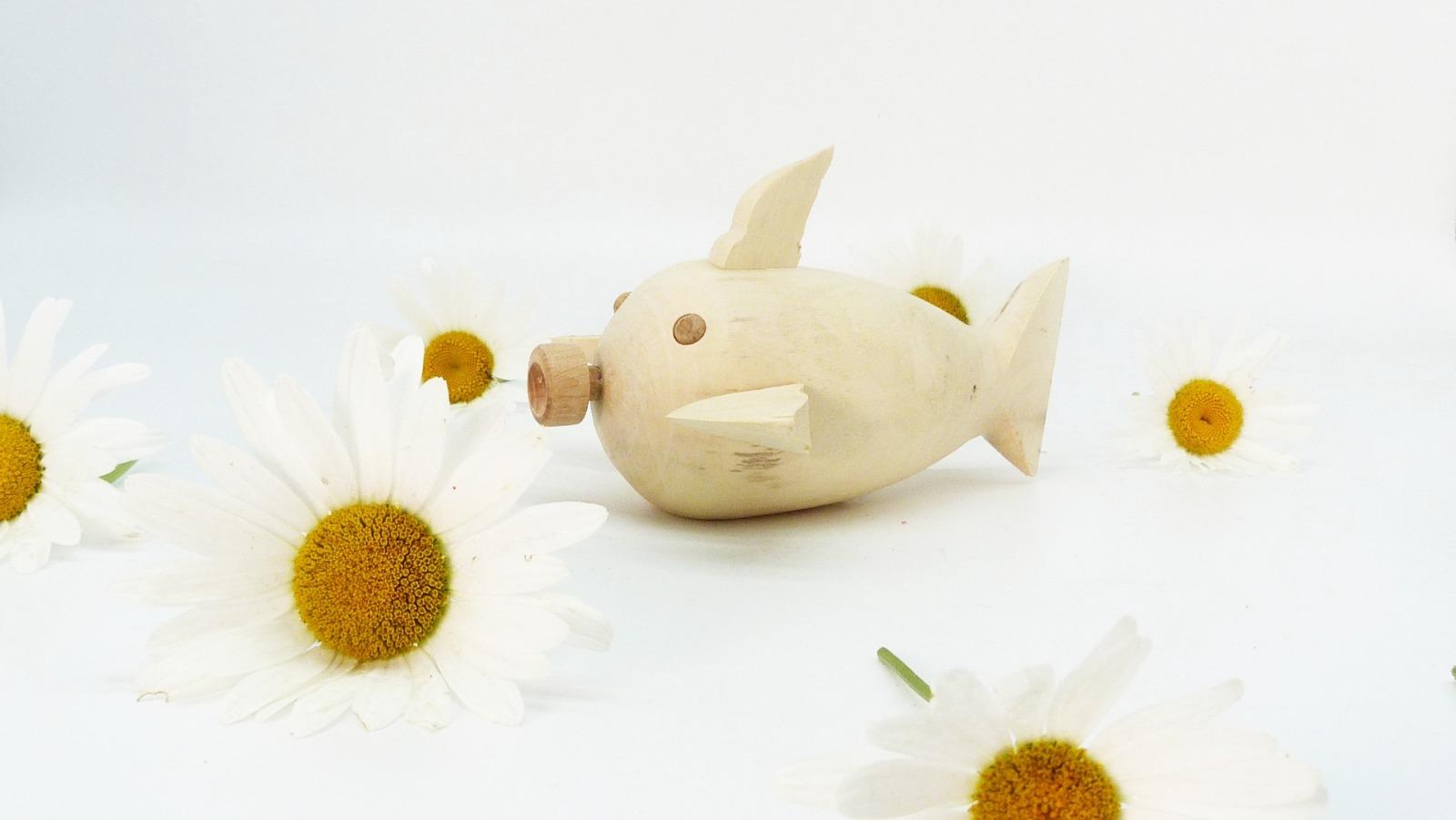 Holz Fisch Pigfish 2