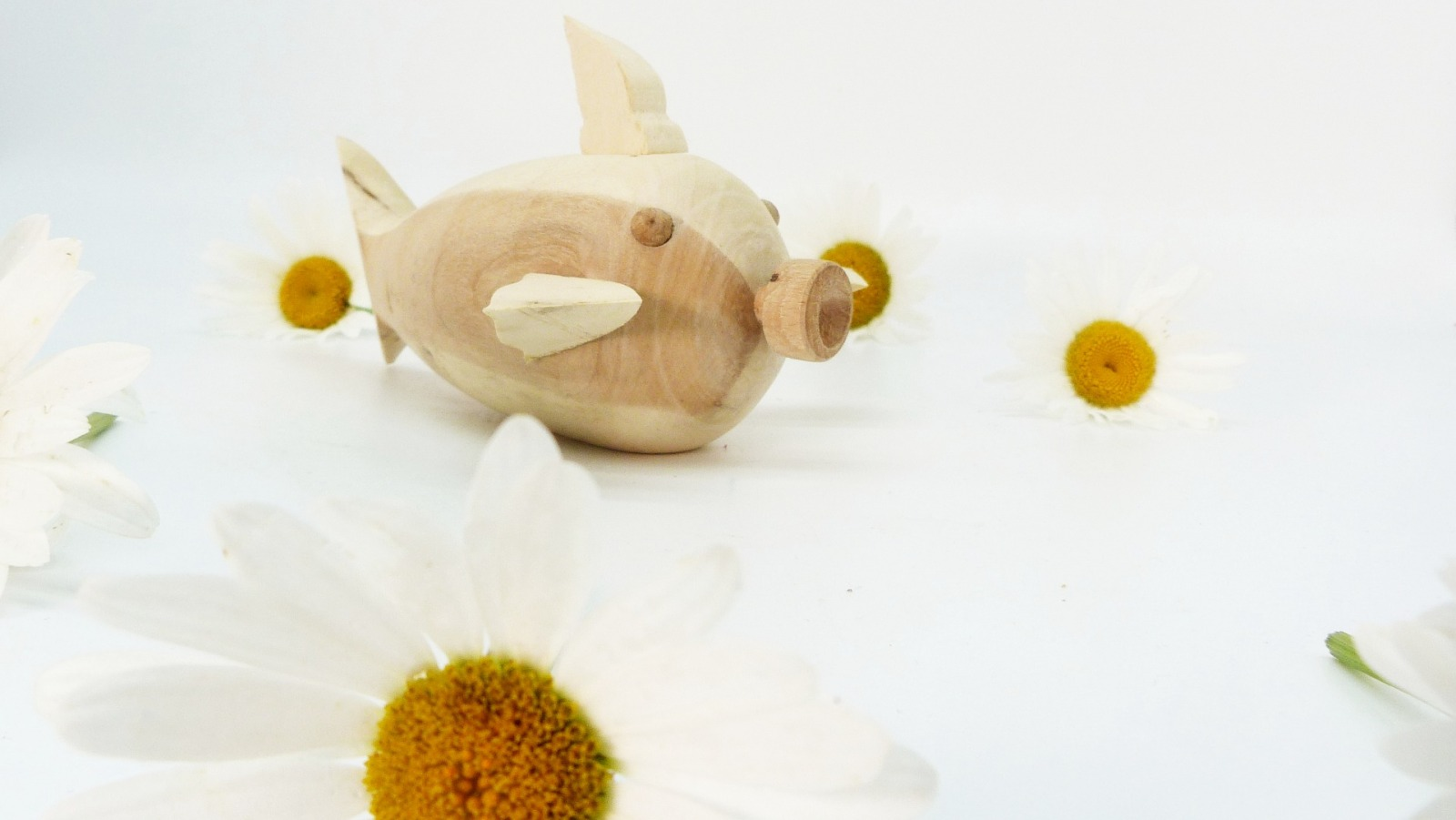 Holz Fisch Pigfish 3