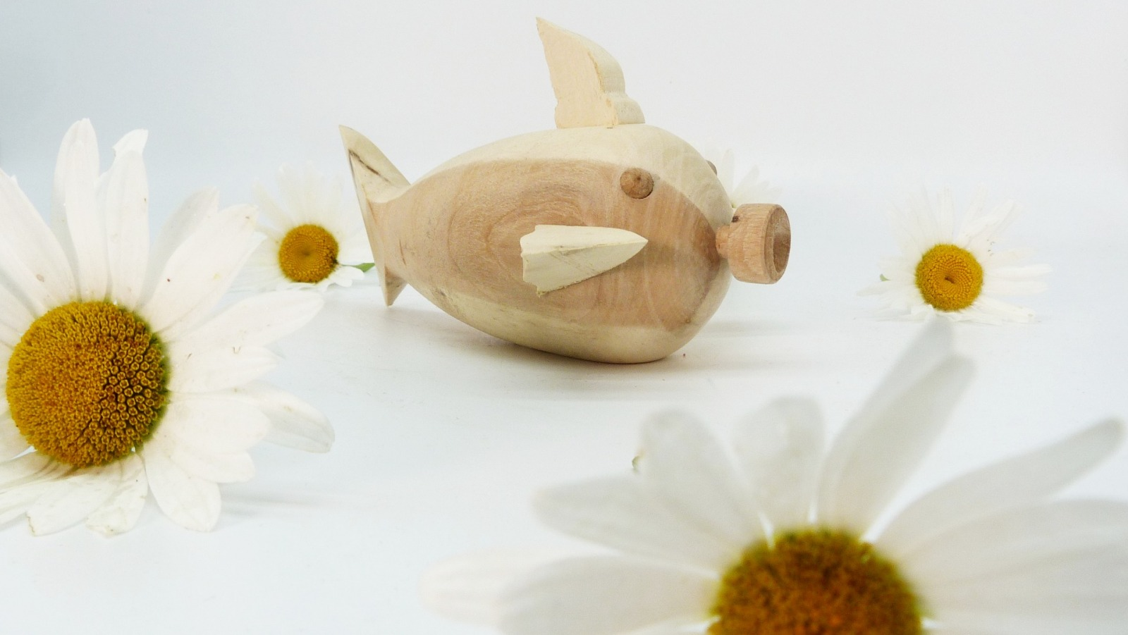 Holz Fisch Pigfish 4