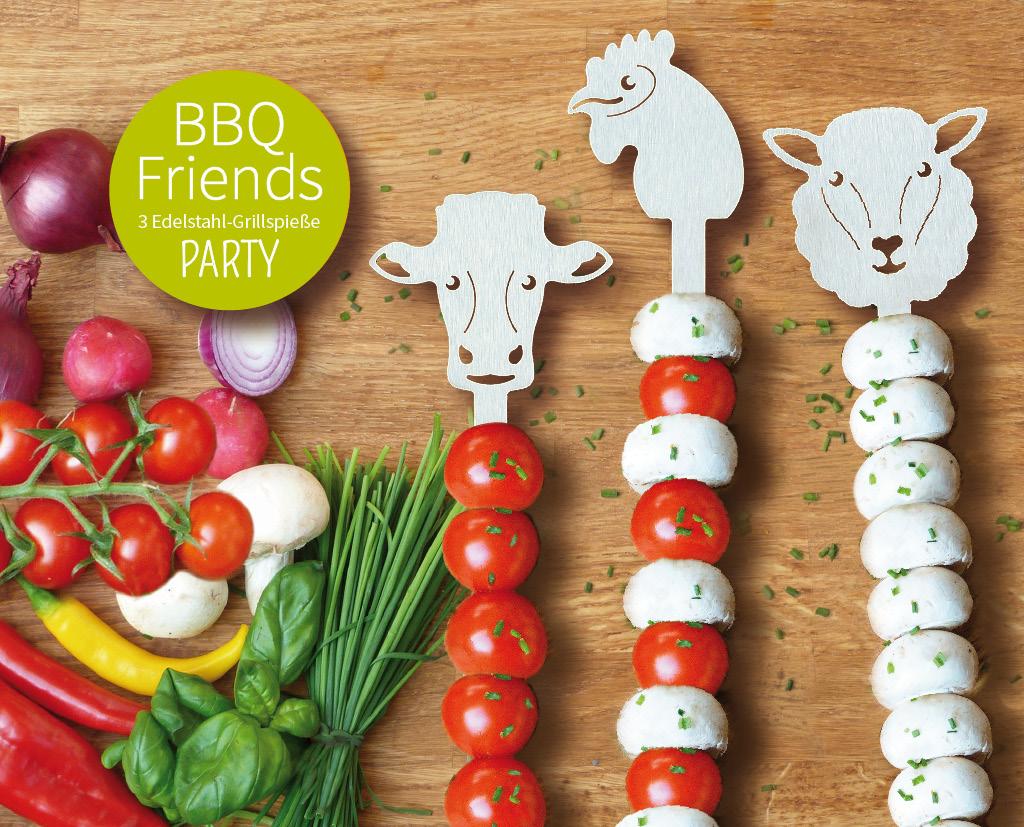 BBQ Friends Grillspieße Motiv