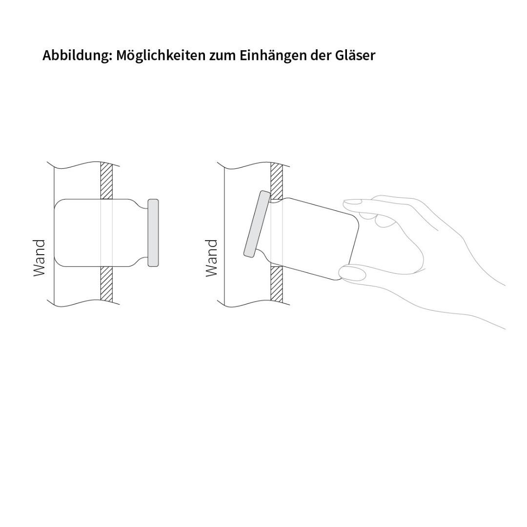 Gewürzregal Holz 12er wasserblau