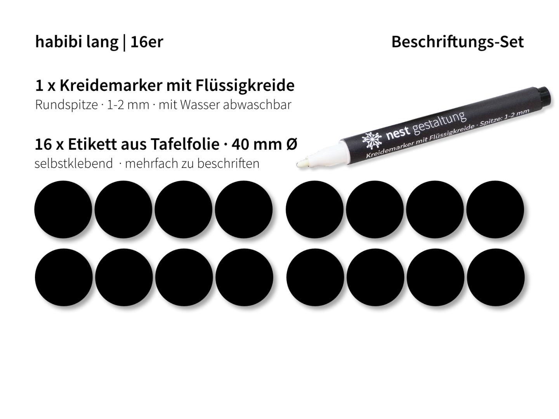 Beschriftungs-Set 16 x Etikett