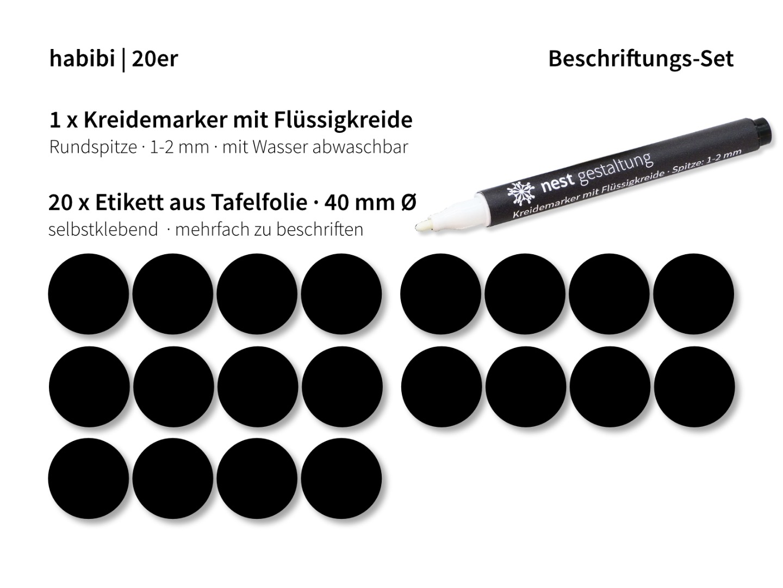 Beschriftungs-Set 20 x Etikett