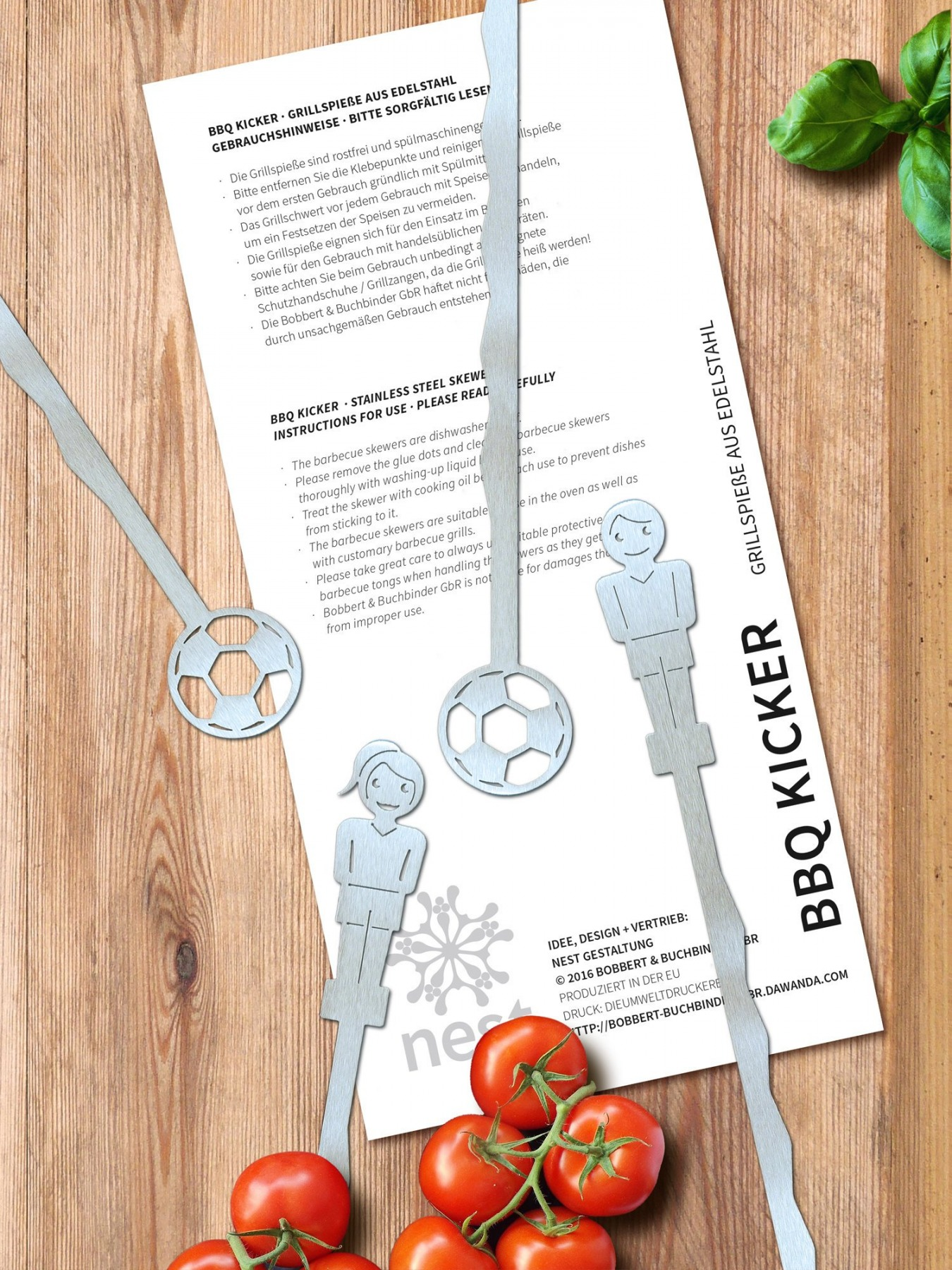 BBQ Kicker Grillspieße 2x - 3