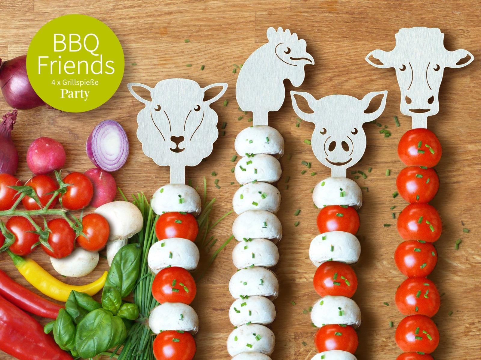 BBQ Friends Grillspieße PARTY