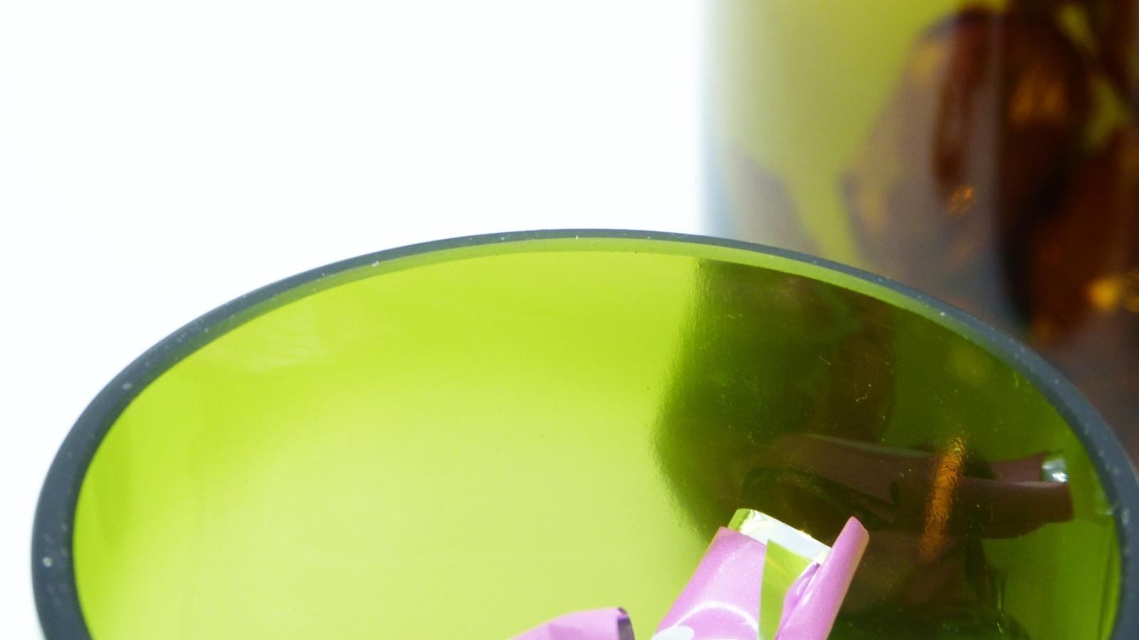 Recycling Kreiselgläser grün mit Deckel 12